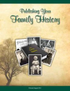 Publishing Your. Family History