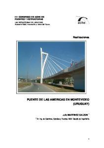 PUENTE DE LAS AMERICAS EN MONTEVIDEO (URUGUAY)