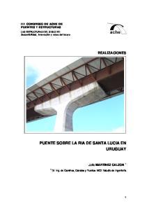 PUENTE SOBRE LA RIA DE SANTA LUCIA EN URUGUAY