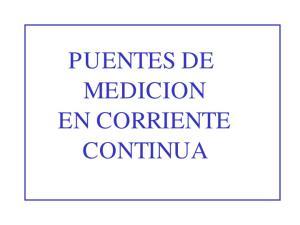 PUENTES DE MEDICION EN CORRIENTE CONTINUA