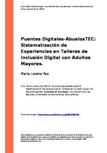 Puentes Digitales-AbuelosTEC: Sistematización de Experiencias en Talleres de Inclusión Digital con Adultos Mayores