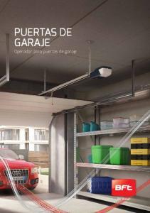 Puertas de garaje. Operador para puertas de garaje
