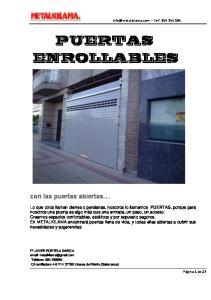 PUERTAS ENROLLABLES. con las puertas abiertas