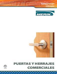 Puertas y herrajes comerciales. Industrial PUERTAS Y HERRAJES COMERCIALES