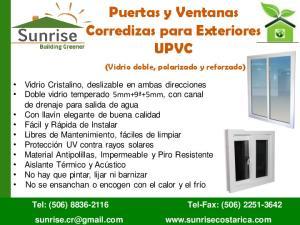 Puertas y Ventanas Corredizas para Exteriores UPVC