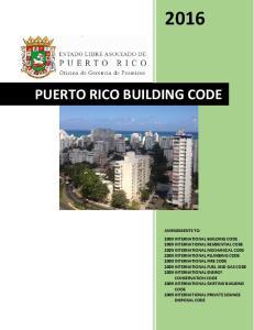 PUERTO RICO BUILDING CODE