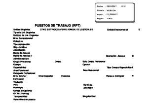 PUESTOS DE TRABAJO (RPT)