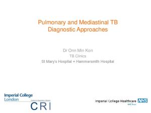 Pulmonary and Mediastinal TB Diagnostic Approaches