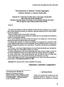 Pulp Response of Mineral Trioxide Aggregate, Calcium Sulfate or Calcium Hydroxide