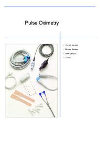Pulse Oximetry. TruLink Sensors. Masimo Sensors. Other Sensors. Cables