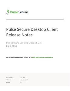 Pulse Secure Desktop Client Release Notes
