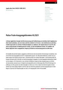Pulse-Train-Ausgangsklemme KL2521