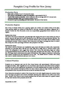Pumpkin Crop Profile for New Jersey