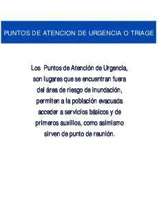 PUNTOS DE ATENCION DE URGENCIA O TRIAGE