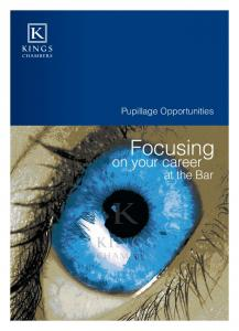 Pupillage Opportunities. Focusing. on your career. at the Bar