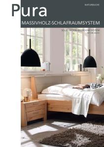 Pura MASSIVHOLZ-SCHLAFRAUMSYSTEM SOLID WOOD BEDROOM SYSTEM NATURE BEECH NATURBUCHE