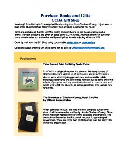Purchase Books and Gifts CCHA Gift Shop