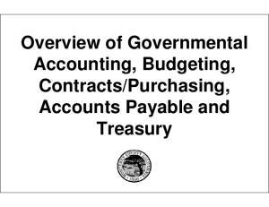 Purchasing, Accounts Payable and Treasury