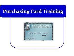 Purchasing Card Training