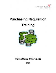 Purchasing Requisition Training