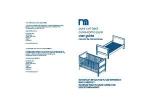 pure cot bed cuna-cama pure user guide
