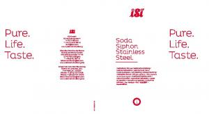 Pure. Life. Taste. Pure. Life. Soda Siphon Stainless Steel