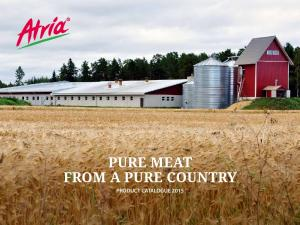 PURE MEAT FROM A PURE COUNTRY PRODUCT CATALOGUE 2015