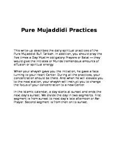 Pure Mujaddidi Practices