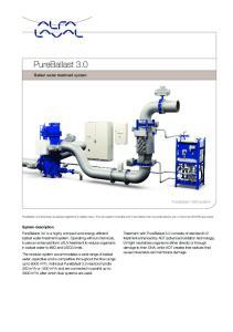 PureBallast 3.0. Ballast water treatment system. PureBallast 1000 system