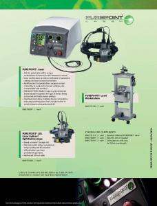 PUREPOINT Laser. PUREPOINT Laser Workstation. PUREPOINT LIO, Laser Indirect Ophthalmoscope