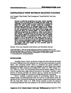 PURIFICATION OF WHITE WATERS BY SELECTIVE FLOTATION