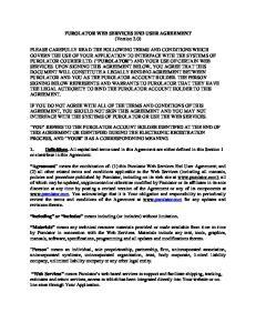 PUROLATOR WEB SERVICES END USER AGREEMENT (Version 2.0)