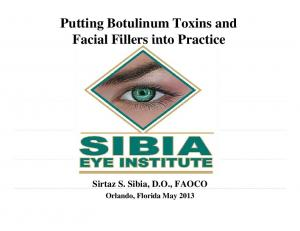 Putting Botulinum Toxins and. Sirtaz S. Sibia, D.O., FAOCO
