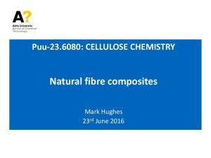 Puu : CELLULOSE CHEMISTRY Natural fibre composites