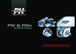 PW & PWe Hydraulic Pumps