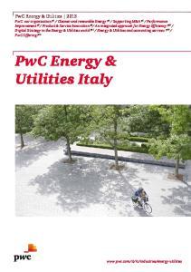 PwC Energy & Utilities Italy
