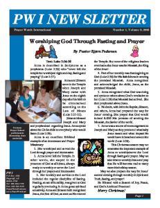 PWI NEWSLETTER. Prayer Watch International Number 1, Volume 8, 2005