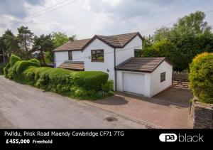 Pwlldu, Prisk Road Maendy Cowbridge CF71 7TG. 455,000 Freehold