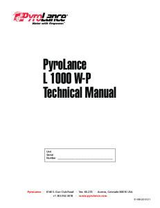 PyroLance L 1000 W-P Technical Manual