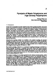 Pyrolysis of Waste Polystyrene and High-Density Polyethylene