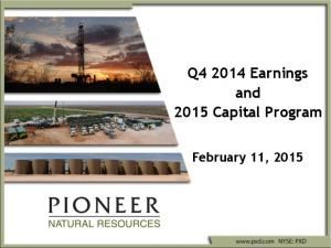 Q Earnings and 2015 Capital Program. February 11, 2015