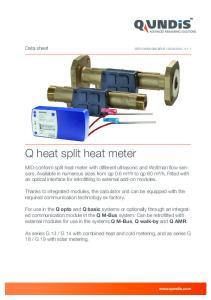 Q heat split heat meter
