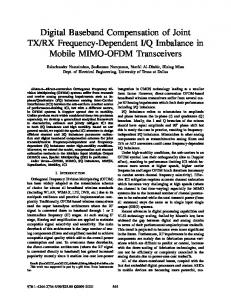 Q Imbalance in Mobile MIMO-OFDM Transceivers