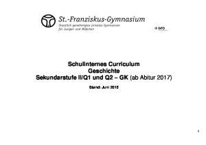 Q1 und Q2 GK (ab Abitur 2017) Stand: Juni 2015