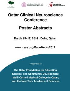 Qatar Clinical Neuroscience Conference. Poster Abstracts