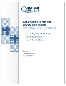 QC Plan Sample Selected pages (not a complete plan)