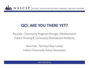 QCI: ARE YOU THERE YET?