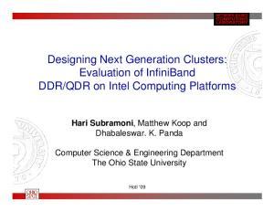 QDR on Intel Computing Platforms