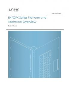 QFX Series Platform and Technical Overview