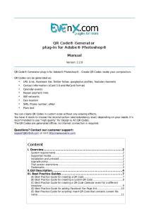 QR Code Generator plug-in for Adobe Photoshop. Manual